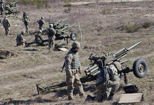 US soldiers train with Ukrainian soldiers on defense artillery tactics with mortar live-fire exercise 640 001