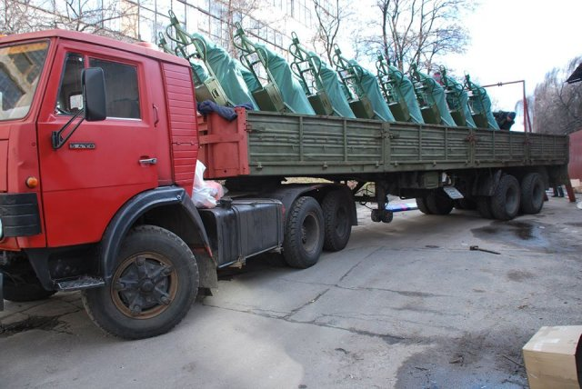 Ukraine received the fist batch of new mortars Molot 640 001