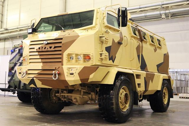 Company KrAz from Ukraine unveils new 4x4 armoured vehicle Hulk at defense exhibition in Kiev 640 001