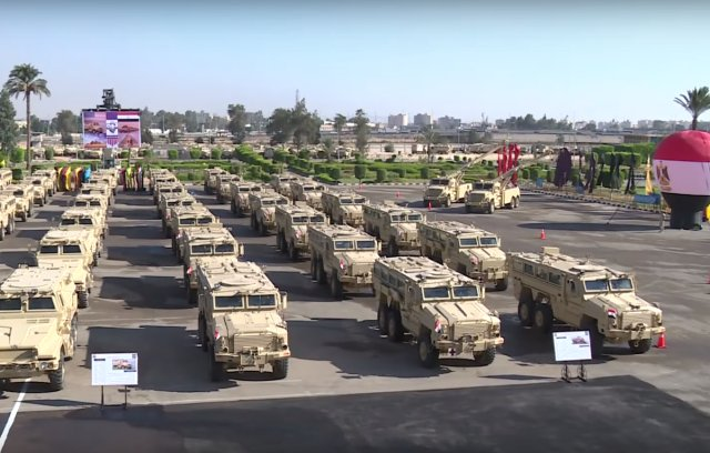 Egypt takes delivery of second batch of MRAP vehicles from United States 640 001