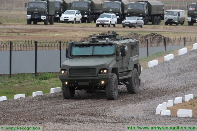 Russian Company ZSA will test anti-mine capabilities of new K4386 Typhoon 4x4 MRAP 640 001
