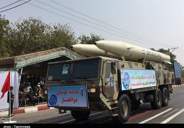 Iran displays new Zolfaqar ballistic missile during military parade in Bandar Abbas 640 001