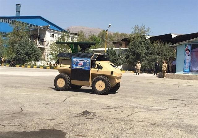 New UGV Unmanned Ground Vehicle Robot Nazeer enters in service with Iranian Armed Forces 640 001