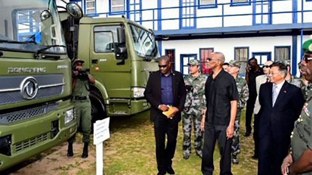China donates military equipment to the Armed Forces of Guyana 640 001
