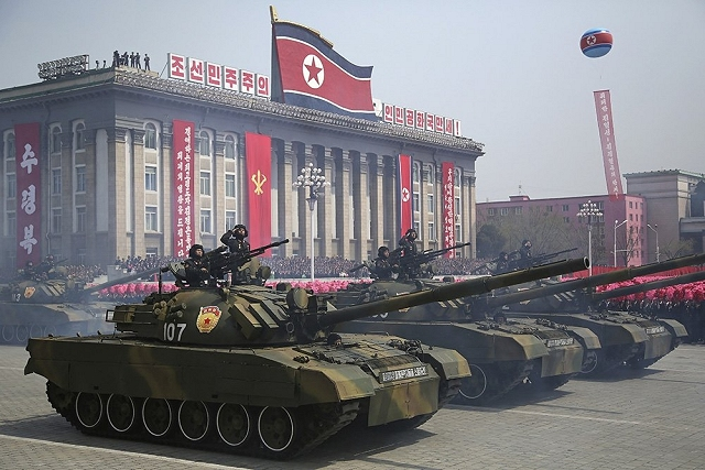 Chonma Ho MBT Main Battle Tank North Korea Korean army military parade 105th anniversary of the birth of Kim Il sung 640 001