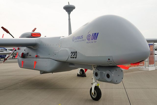 Israel will deliver 10 HERON TP MALE armed drones to armed forces of India 640 001