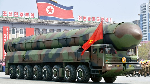 Another new ICBM (Intercontinental Ballistic missile) was unveiled at the North Korean military parade of April 2017 which seems similar to the Russian Topol-M or the Chinese DF-41.