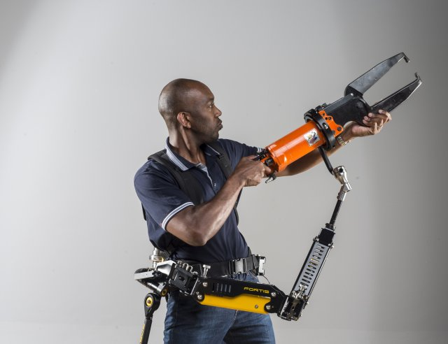 The key weight-bearing component of Lockheed Martin's industry-leading FORTIS® industrial exoskeleton is now available as a separate product. Capable of supporting weight up to 50 pounds, the unpowered FORTIS Tool Arm relieves fatigue as users work with heavy industrial tools.