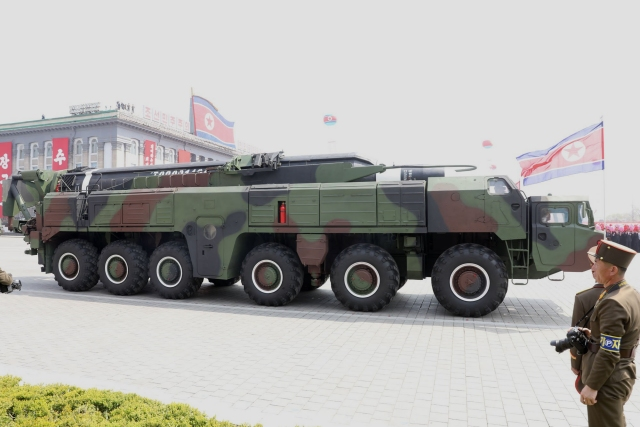 The Musudan also called BM-25 or Hwasong-10 is a medium range ground-to-ground ballistic missile based on the technology of the Russian-made ballistic missile Scud-C.