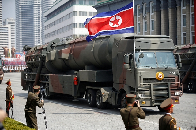 Another new ICBM (InterContinental Ballistic Missile) was showed for the first time at the North Korean military parade of April 2017 carried on a seven wheel axles truck chassis. According to foreign military experts, this is the biggest missile canister designed by North Korean defense industry.