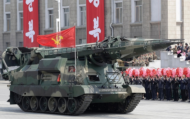 Another new mobile ballistic missile was showed for the first time at the North Korean military parade of April 2017 mounted on a tracked chassis which seems similar to the Soviet made SCUD-A.