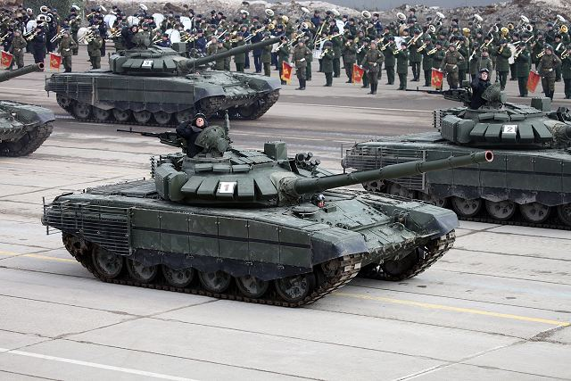 Russian army unveils new version of T 72B3 upgraded with additional armour 640 002