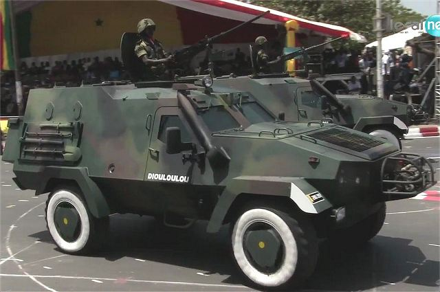 Senegal armed forces unveil new Oncilla 4x4 armoured and Bastion 1 122 MLRS at military parade 640 001