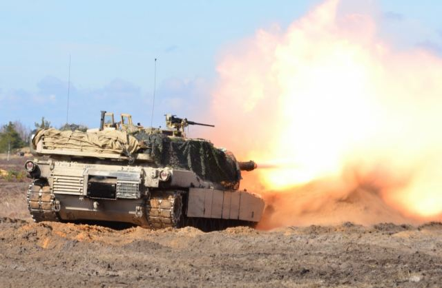 US Army soldiers of 68th Armor Regiment conducted live firing with M1 Abrams tanks in Latvia 640 001