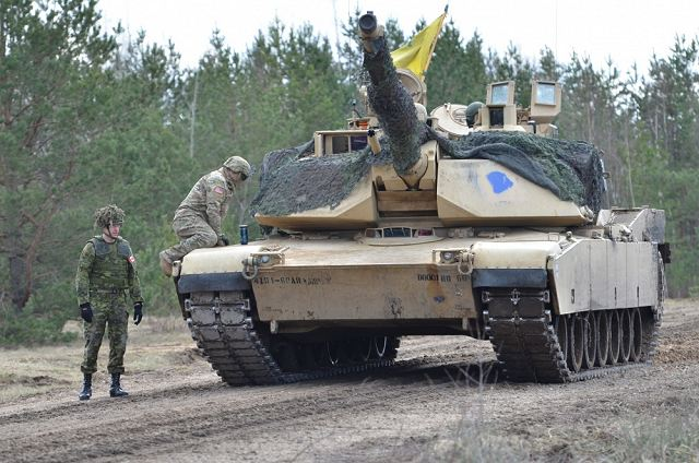 U S  Army soldiers of 68th Armor Regiment conducted live firing with