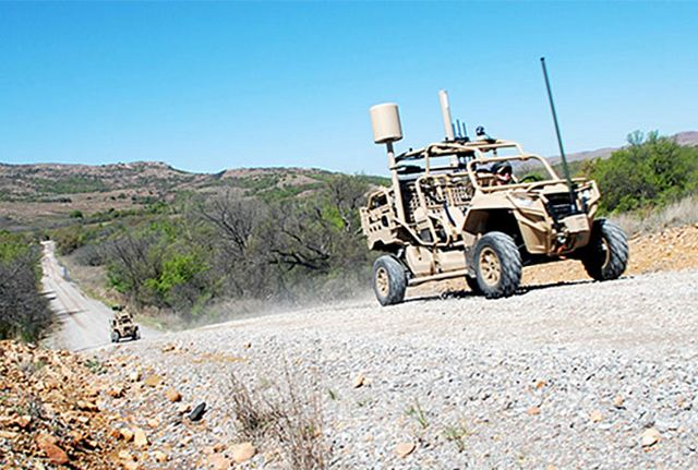 US army tests the Hunter and Killer vehicle to track aircraft and performs fires targeting 640 001