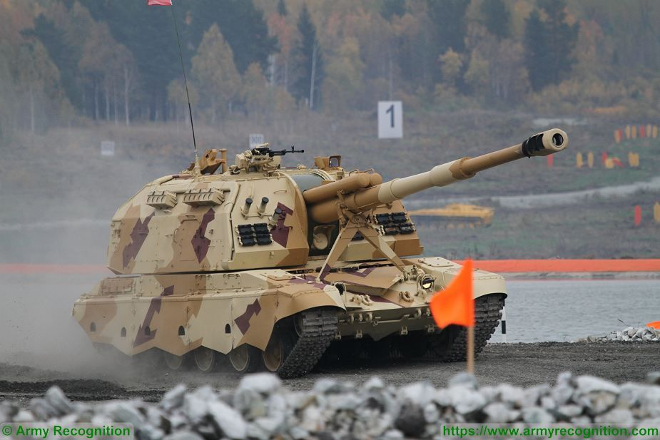 New 2S33 MTSA SM2 152mm tracked self propelled howitzer for Russian army Western Military District 925 001