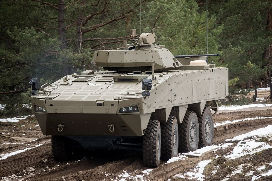 Prototype of Slovak Patria AMV 8x8 armored fitted with 30mm turret 925 001