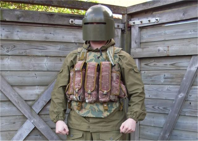 Rosoboronexport also promotes the Kirasa family of body armour. The vests provide all-round protection against fragments, cold steel arms, pistol and rifle (when the vest is reinforced with applique armour plates) bullets.