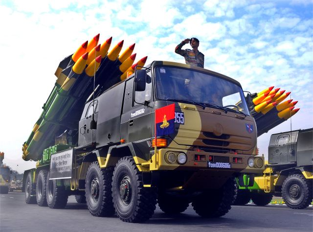 Russia and India intend to establish a joint venture to manufacture 300mm projectiles for the Smerch multiple-launch rocket system (MLRS), Vladimir Drozhzhov, deputy director, Federal Service for Military-Technical Cooperation, has said at the Aero India 2017 air show in Bengaluru today.
