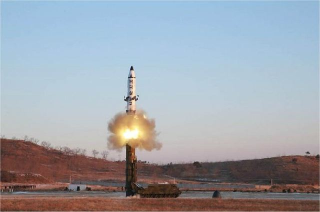 Sunday, February 2017, North Korea has test-fired a new type of intermediate-range ballistic missile launched from a mobile launch unit using a tracked chassis, called Pukguksong-2 . According Pyongyang, this is a new solid fuel-powered intermediate-range ballistic missile able to carried a nuclear warhead.