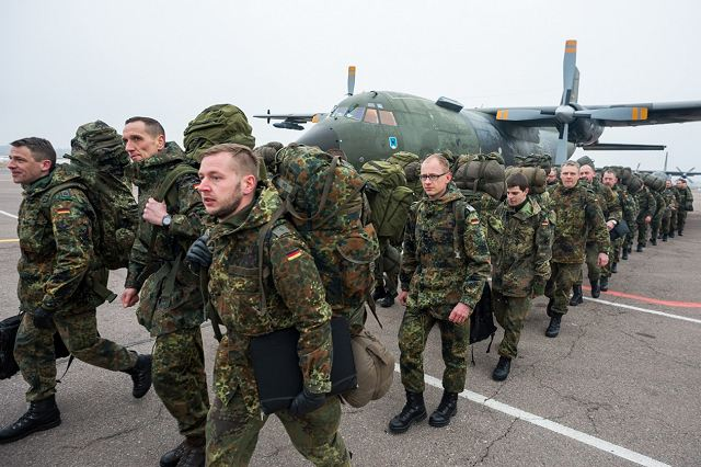 Soldiers from the German Army arrived in Lithuania to form NATO Forward Presence Battalion 640 001