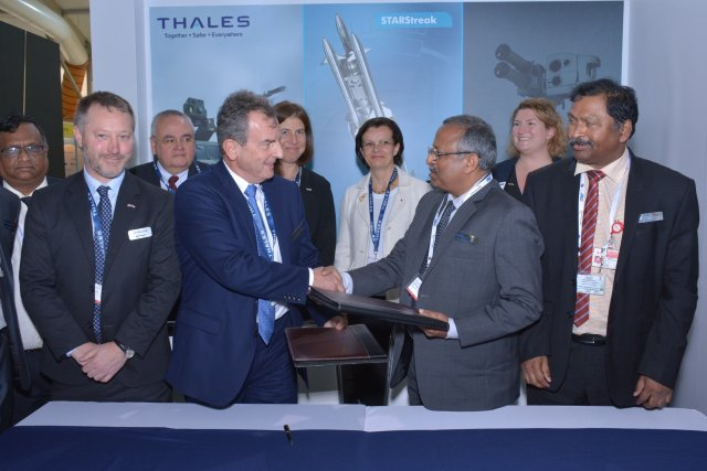 Thales Bharat Dynamics sign MoU for possible Technology transfert for STARStreak missile to India 640 001