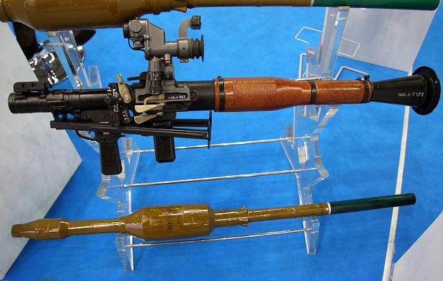Analysis RPG-7V1 and RPG-7V2 Russian defense industry rocket-propelled rounds PG-7VR 640 001