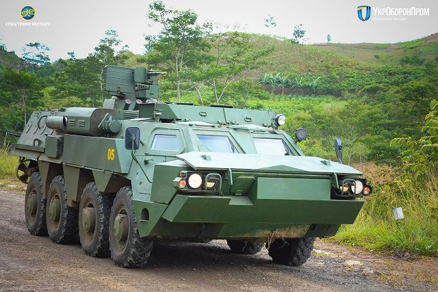 BTR-4 8x8 APC armored personnel carrier from Ukraine tested by Marine Corps of Indonesia 640 001