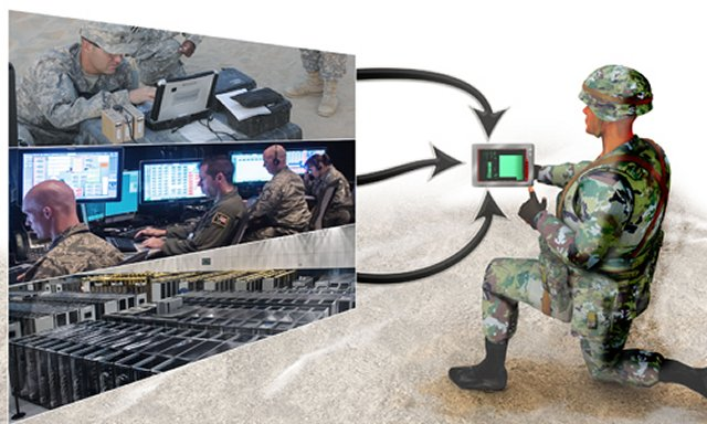 Darpa announce its program to share battlefield information via handheld devices 640 001