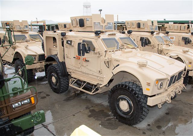 The newest version of M-ATV Mine Resistant Ambush Protected All-Terrain Vehicle is currently being upgraded, refurbished and up-armored for both the Marine Corps and Air Force at Production Plant Barstow, Marine Depot Maintenance Command, on the Yermo Annex of Marine Corps Logistics Base Barstow, California.