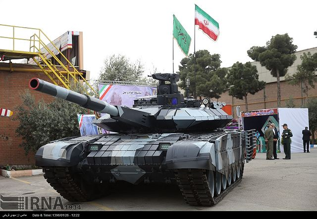 "Commander of Iran's Army Ground Force Brigadier General Kiomars Heidari has announced that the Iranina armed forces will receive soon local-made state-of-the-art main battle tanks ""Karrar"" fully developed and designed by the defense industry of Iran."