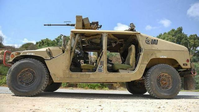 Israeli army has tested a new project of autonmous Humvee 4x4 light tactical vehicle which is remotely operated. The tests have so far proven the Humvee to be relatively successful on the road and in maneuvering in open areas and on side slopes.