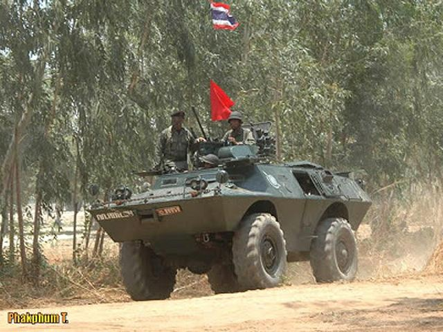 The Thai Navy has taken delivery of upgraded V-150 4x4 armoured vehicle developed by the local Company Panus Assembly under the name of HMV-150. The V-150 is an upgraded variant of the V-100 Cadillac Gage Commando which was developed in the early 1960s. The first prototype of this vehicle was completed in 1963 with first delivery for U.S. army in 1964.