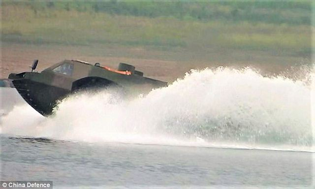 China has developed the fastest 4x4 amphibious armoured vehicle in the world which can reach a maximum speed of 50 km/h. The vehicle is being built by the North China Institute of Vehicle Research in Beijing.