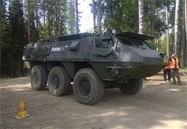 The Finnish Company Patria has completed successfully the 24-hour endurance test event of the XA-220 6x6 armoured wheeled vehicle. During the test held on 30.-31. May altogether some 800 kilometers were driven by Patria's teams.