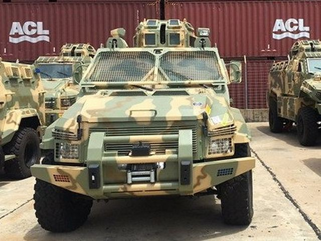 Nigeria has received a first batch of 25 armoured vehicles including Typhoon and Spartan armoured personnel carrier designed and manufactured by the Company Streit Group. A total of 177 armoured vehicles has been ordered for the Nigerian army.