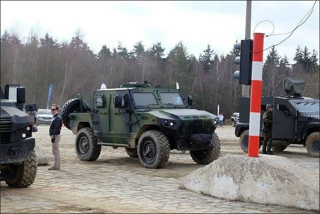 The Czech Company VOP has demonstrated the Ajban 440A 4x4 light protected vehicle to the Czech Ministry of Defense to the military polygon of Vyskov, in Czech Republic, February 27 -28, 2017.