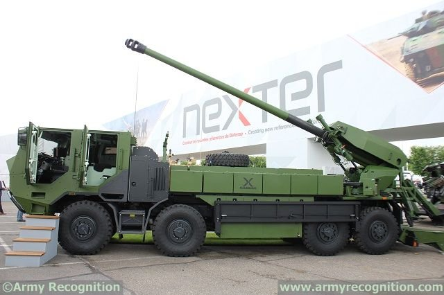 Denmark select Nexters CAESAR 8x8 self propelled howitzers 640 001