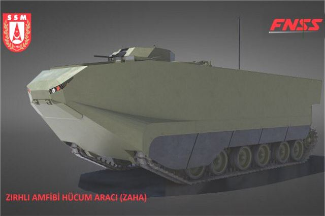FNSS from Turkey will developed ZAHA new tracked amphibious armored for Turkish armed forces 640 001