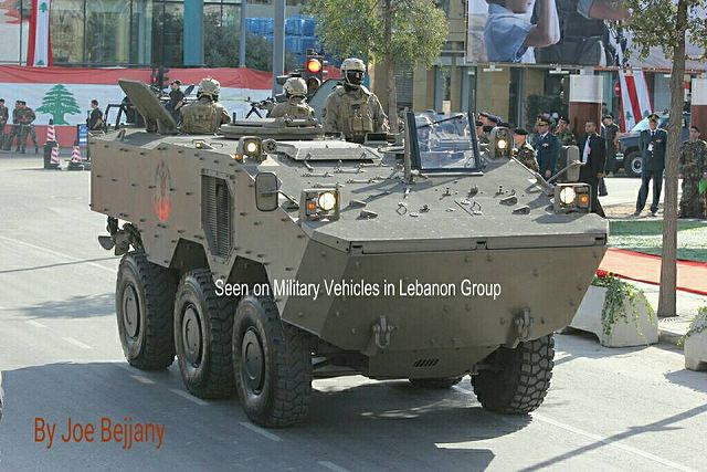 Guarani 6x6 armoured vehicle produced in Brazil is now in service with Lebanese Army 640 001