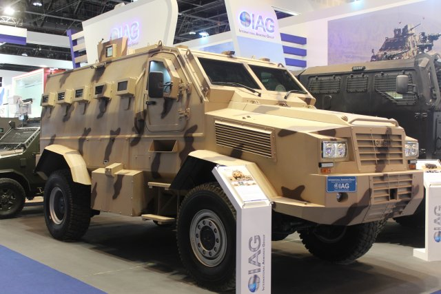 IAG presents  the Tracker Armored Personnel Carrier at IDEX 2017 640 001