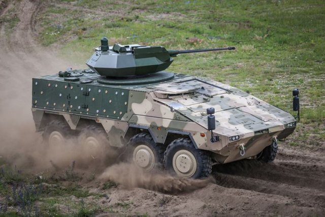 Lithuanian Armys selects Orbital ATK MK44 Bushmaster Chain Gun to mount on Vilkas 8x8 IFV 640 003