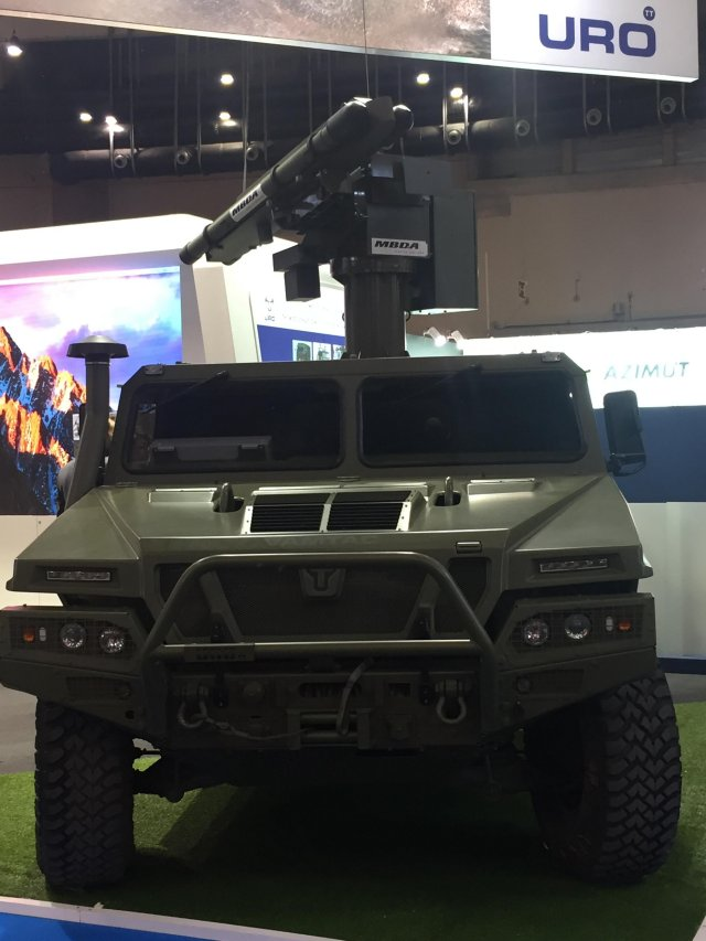 As a response to the Spanish MoD's requirements to modernize its existing Mistral launchers, this new system is based on a remotely controlled turret, equipped with two Mistral missiles and a latest generation thermal sight, capable of being mounted on light armoured vehicles such as the URO VAMTAC ST5, the Spanish Army's high mobility tactical vehicle.