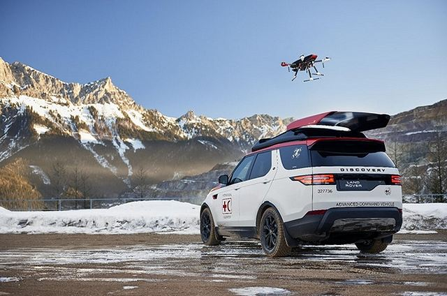New Land Rover 4x4 vehicle featuring drone technology for Austrian emergency response teams 640 001