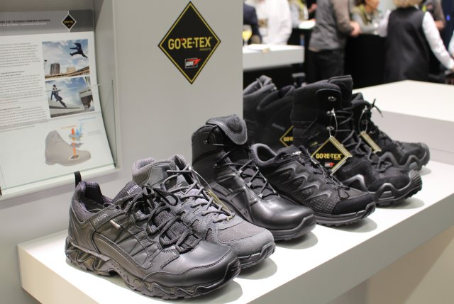 With its Patrol GORE-TEX® Extended Comfort Footwear, W. L. Gore provides a first-of-a-kind solution for a lightweight, extremely breathable and durably waterproof duty boot specifically engineered for use in hot-dry and hot-humid climates. The boots, presented at IWA 2017, are quick to dry and offer reliable protection against sand, dust and water entry.
