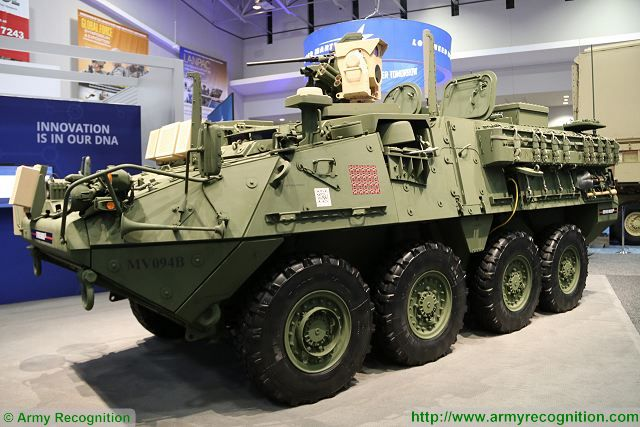 US Army demonstrates MEHEL 2.0 laser weapon integrated on Stryker 8x8 armoured combat vehicle 640 001