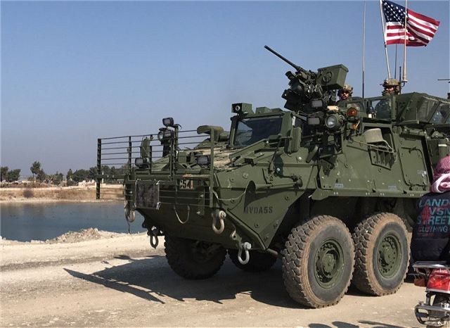 United States have deployed troops and Stryker armoured vehicles in Syria 640 001