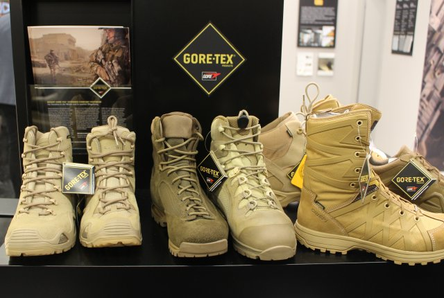 W L Gore exhibits its Desert Boots with new GORE TEX Extended Comfort laminates at IWA 2017 002