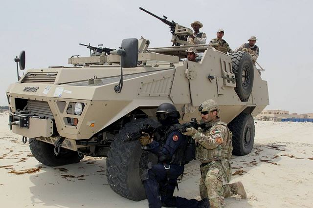 "Pictures released on Internet showed Saudi Special Forces at military exercise ""Abdullah 5"" using the Bastion Patsas, a Special Force 4x4 armoured vehicle designed and manufactured by the French Company ACMAT, now a subdivision of Renault Trucks Defense of France."